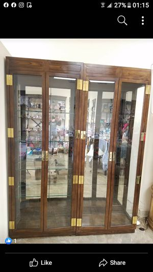 2 antique china cabinets for jewelry or dinnerware sets( price is for 2 pcs) for Sale in Orland Park, IL