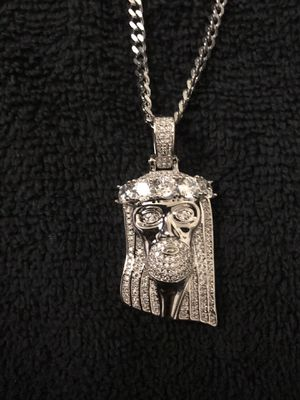 White Gold Plated Jesus Face for Sale in Clemson, SC
