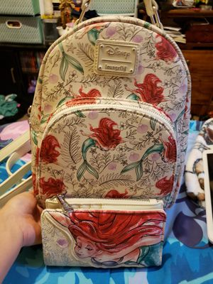Disney The Little Mermaid Loungefly Backpack Set for Sale in Fresno, CA