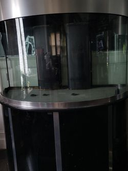 240 Gallon Custom Made Stainless steel&black Bowfront Aquarium. for Sale in Cleveland,  OH