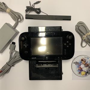 Nintendo Wii U 32GB Black Console *BUNDLE, CLEANED & TESTED* for Sale in Fairfield, CA