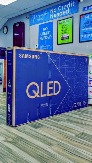 Samsung 75 inch Class - QLED Q70T Series - 4K UHD TV - Smart - LED - with HDR! Brand New in Box! Retails for $2099+Tax !! $50 DOWN / $50 WEEKLY !! for Sale in Arlington, TX