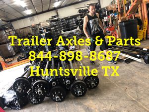 7k Electric brake trailer axle -7000 lbs trailer axle 8 lug fully assembled on sale for Sale in Huntsville, TX