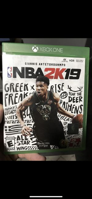 nba 2k19 for xbox one for Sale in Mesa, AZ