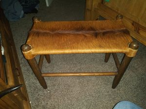 Cowhide ristic stool for Sale in Saginaw, TX