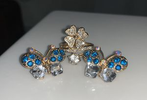 Butterfly Earrings and Flower Ring for Sale in Kissimmee, FL