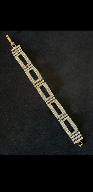 $20! Vintage rhinestone square shaped bracelet. 7 inches long and 3/4 inch wide. for Sale in Largo, FL
