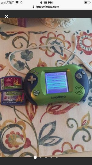 Lightly Used Leapster Pad with 2 games - Great condition just replaced batteries Comes with charger too for Sale in Oak Park, IL