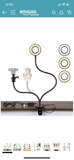 Selfie Ring Light with Webcam Mount for Sale in Lancaster, CA