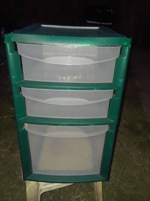 3 drawer plastic container for Sale in Grand Prairie, TX