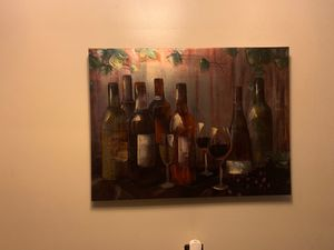 Wine Canvas Painting for Sale in Newark, NJ