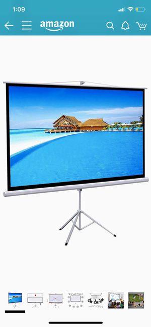 """Projector screen (100"""") for Sale in Glen Ellyn, IL"""