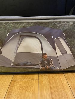 Brand New Ozark Trail 6 Person Cabin Style Caning Or Backyard Tent With LED Lights for Sale in Gurnee,  IL