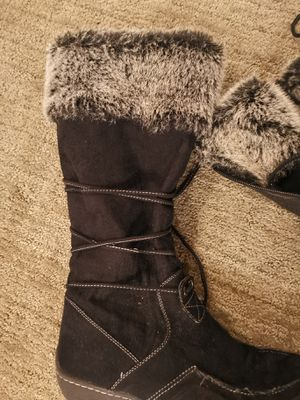 American eagle black with pom poms and zipper boots 9.5 for Sale in Mill Creek, WA
