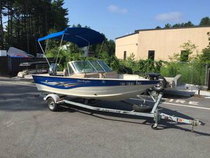 2008 smokercraft angler pro 162 aluminum boat with 70hp Yamaha motor and trailer will trade for Sale in Westford, MA