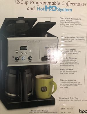 "Cuisinart Cuisinart® Coffee Plus™ 12-Cup Programmable Coffee Maker with Hot Water System- "" NEW "" (FIRM PRICE) for Sale in Los Angeles, CA"