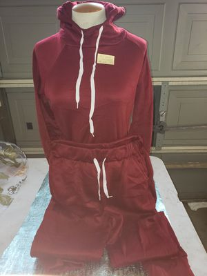red hoodie and sweats woman size small for Sale in Bakersfield, CA