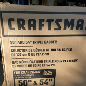 """Craftsman Tripple Bagger For Lawn Tractors 50"""" and 54"""" for Sale in Chesapeake, VA"""