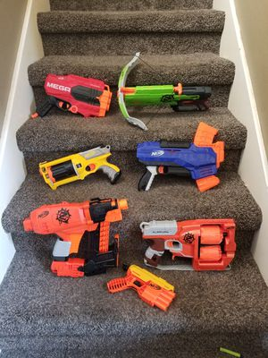 Lot of 7 nerf guns for Sale in Kyle, TX