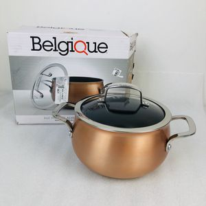 Belgique 3 quart covered (with lid) soup pot - copper finish - nonstick aluminum (2441) for Sale in St. Charles, IL