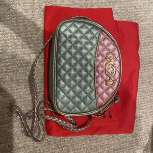 Gucci Pink and Blue Laminated Leather Mini Bag for Sale in Irvine, CA