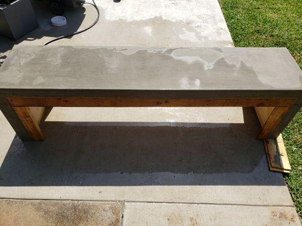 Concrete table, coffee table. I make