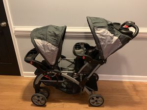 Baby Trend Double Sit N Stand Toddler and Baby Stroller, Millennium Gray/Black for Sale in Charlotte, NC