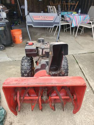 MTD YARD MACHINES SNOW THROWER/BLOWER for Sale in Maple Heights, OH