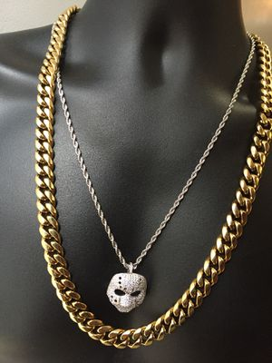 Cyber Monday Sale!! 14KT Gold Filled Cuban Chain and a matching Bracelet. All sizes available!! Best Top Quality!! We do custom work!! for Sale in Seattle, WA