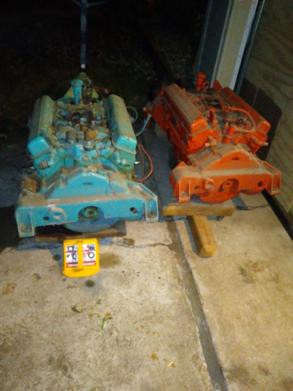 Chevy 283 boat motor late 50's to early 60's with reduction drive gear transmission