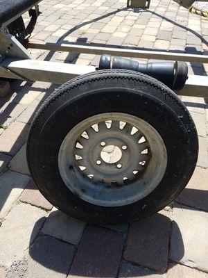 Boat trailer tire and rim size 5.30 -12 4 lug for Sale in Chester, VA