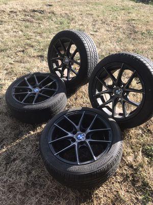 "BMW tires- 18.5"" black rims for Sale in Kirkland, WA"