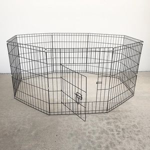 """$30 (new in box) 8-panel dog playpen, each panel 24"""" tall x 24"""" wide pet exercise fence crate kennel gate for Sale in Whittier, CA"""