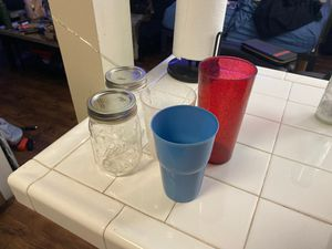 Mason jars and cups for Sale in Los Angeles, CA