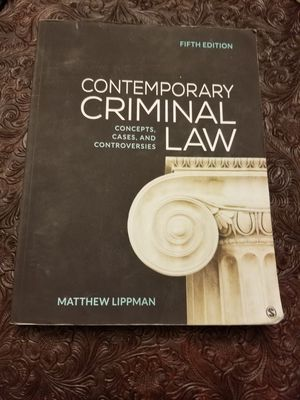 Contemporary Criminal Law: Concepts, Cases, and Controversies. By Matthew Lippman. for Sale in Old Mill Creek, IL
