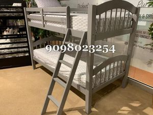 Twin/twin gray bunkbed w. Mattresses included for Sale in HUNTINGTN BCH, CA