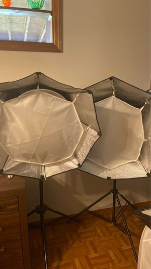 Two professional photography lights with tripod stands and extras for Sale in Columbus, OH