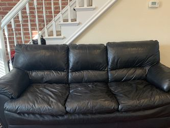Beautiful Black Leather Couch for Sale in Aurora,  CO