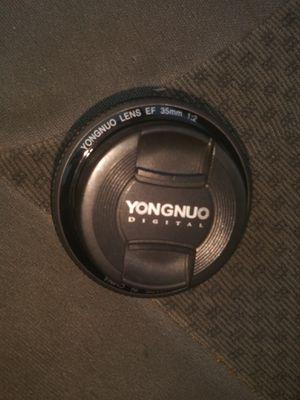 Yongnuo 35mm lens for Sale in Dallas, TX