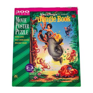 RARE Vintage 1990s Disney Jigsaw Puzzle Jungle Book Movie Poster 300 Pieces (Kids Toys, Games, Family, Collectible, VTG) for Sale in Canton, MI