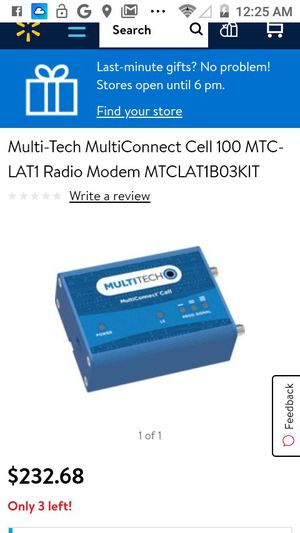 Multi tech multi connect cell radio modem for Sale in Bakersfield, CA