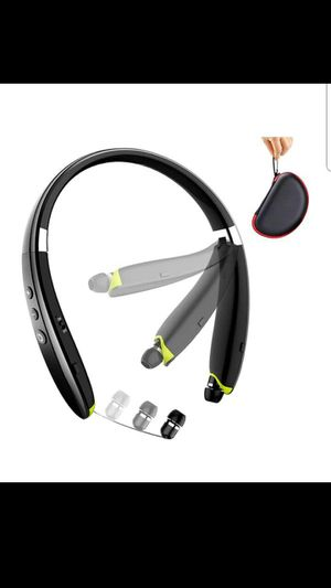Foldable Wireless Neckband Headset with Retractable Earbuds for Sale in Grand Prairie, TX