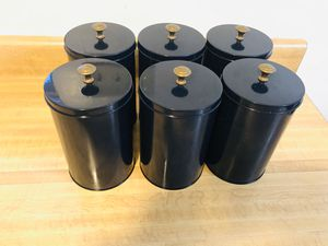 (6) Blue Metal Canisters in excellent condition (pick up only) for Sale in Alexandria, VA