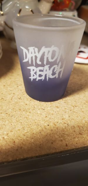 Shot Glass Souvenir Florida Daytona Beach Purple Frosted Collectible Barware for Sale in Lawrenceville, GA