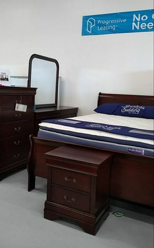 ♨️♨️ Best Offer ♨️HOT DEAL] Louis Philip Cherry Sleigh Bedroom Set SAME DAY DELIVERY ON DISPLAY 🙋‍♀️🙋‍♀️🙋‍♀️ for Sale in Jessup, MD