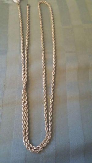 18k gold italian Rope chain for Sale in Falls Church, VA