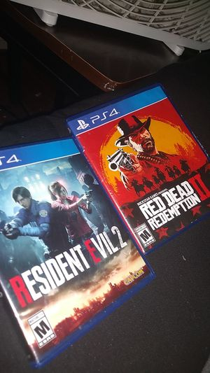 Red dead and resident evil 2 for Sale in Bay City, MI