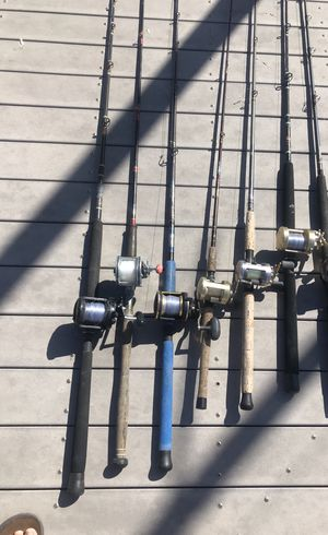 Fishing rods and reels for Sale in Huntington Beach, CA