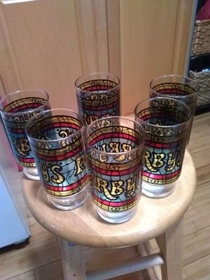 1970 Arby's stained glass glasses collectables set off six like new for Sale in Beaver, PA
