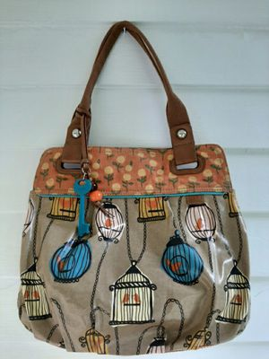 FOSSIL Key Per Birdcage Coated Canvas HOBO Shoulder Bag Tote for Sale in Cuyahoga Falls, OH